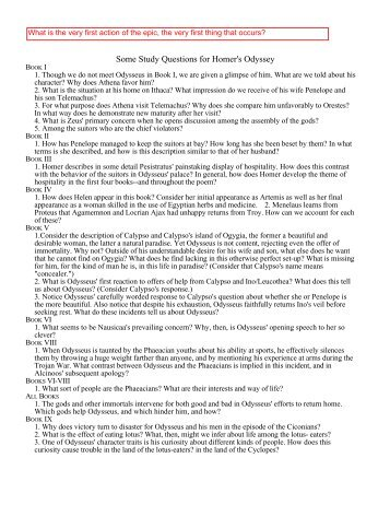 the odyssey study guide guided reading questions answers