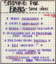 how to make a study guide for a test